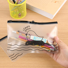 1PC New Chick Transparent Pencil Case Office Student Pencil Translucent Folder School Supplies PVC Envelope To Receive Bag(China)