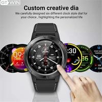 GTWIN M4 Smart Uhr Männer Frauen 2021 GPS Smart uhr Android IOS IP67 Wasserdicht Kompass Barometer Musik Control Bluetooth Anruf