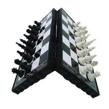 Мини-Шахматный набор, складные пластиковые шахматные доски, легкая настольная игра, домашняя портативная детская игрушка