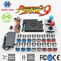 Video Tutorial zu 2 Player Original Pandora Box 9 Kit Kopie SANWA Joystick, chrome LED Push-Taste DIY Arcade Maschine Hause Schrank