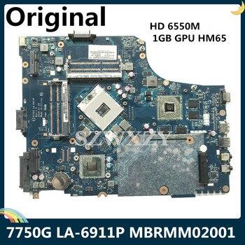 Lsc エイサー熱望 7750 ノートパソコンのマザーボード P7YE0 LA-6911P mb.RMM02.001 MBRMM02001 hd 6550 メートル 1 ギガバイトの gpu HM65 DDR3