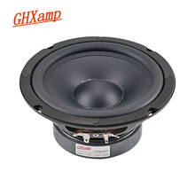 Ghxamp 6.5 polegada 165mm mid bass alto-falante unidade de graves profundos 8ohm 130w alta fidelidade de teatro em casa mediante woofer alto-falante borda de borracha 1pc