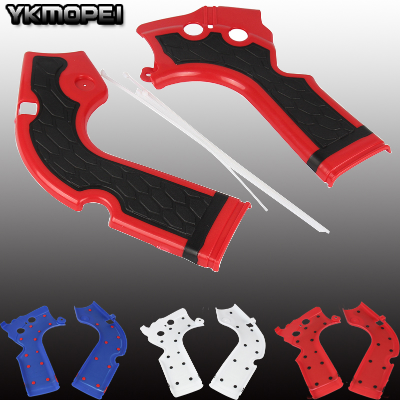 3 Color Motorcycles Frame Guard Motorcross for Honda <font><b>CRF</b></font> 250 <font><b>450</b></font> R 2013-2016 <font><b>CRF</b></font> X Bikes Frame Protection image
