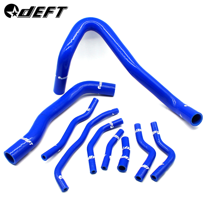 DEFT Silicone Coolant Radiator Hose Kit For Honda <font><b>Civic</b></font> FD2 FG2 <font><b>K20A</b></font> Engine 8th generation 9Pcs Car Accessories 4.5mm Thickness image