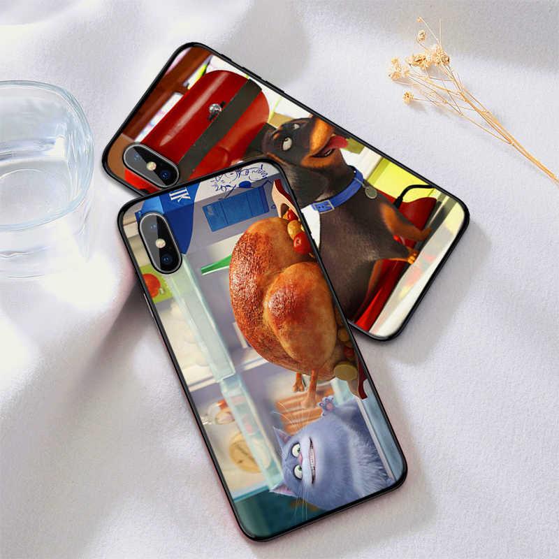خزائن هاتف آيفون XR XS Max X 6 6S 7 8 Plus الحياة السرية للحيوانات الأليفة لينة IMD الهاتف الغطاء الخلفي هدية