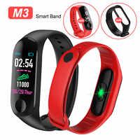 Pulsera inteligente de presión arterial deportiva, Monitor de ritmo cardíaco, banda inteligente, pulsera de podómetro de Fitness resistente al agua para adultos