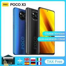 Xiaomi POCO X3 NFC Version mondiale Smartphone Android 64GB 128GB Snapdragon 732G 64MP caméra 5160mAh 6.67