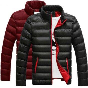 Nouveau hommes hiver chaud vers le bas manteau col montant lumière veste d'extérieur pardessus décontracté
