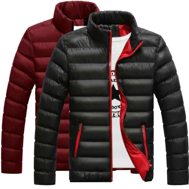 New Men's Winter Warm Down Coat Stand Collar Light Outerwear Jacket Casual Overcoat