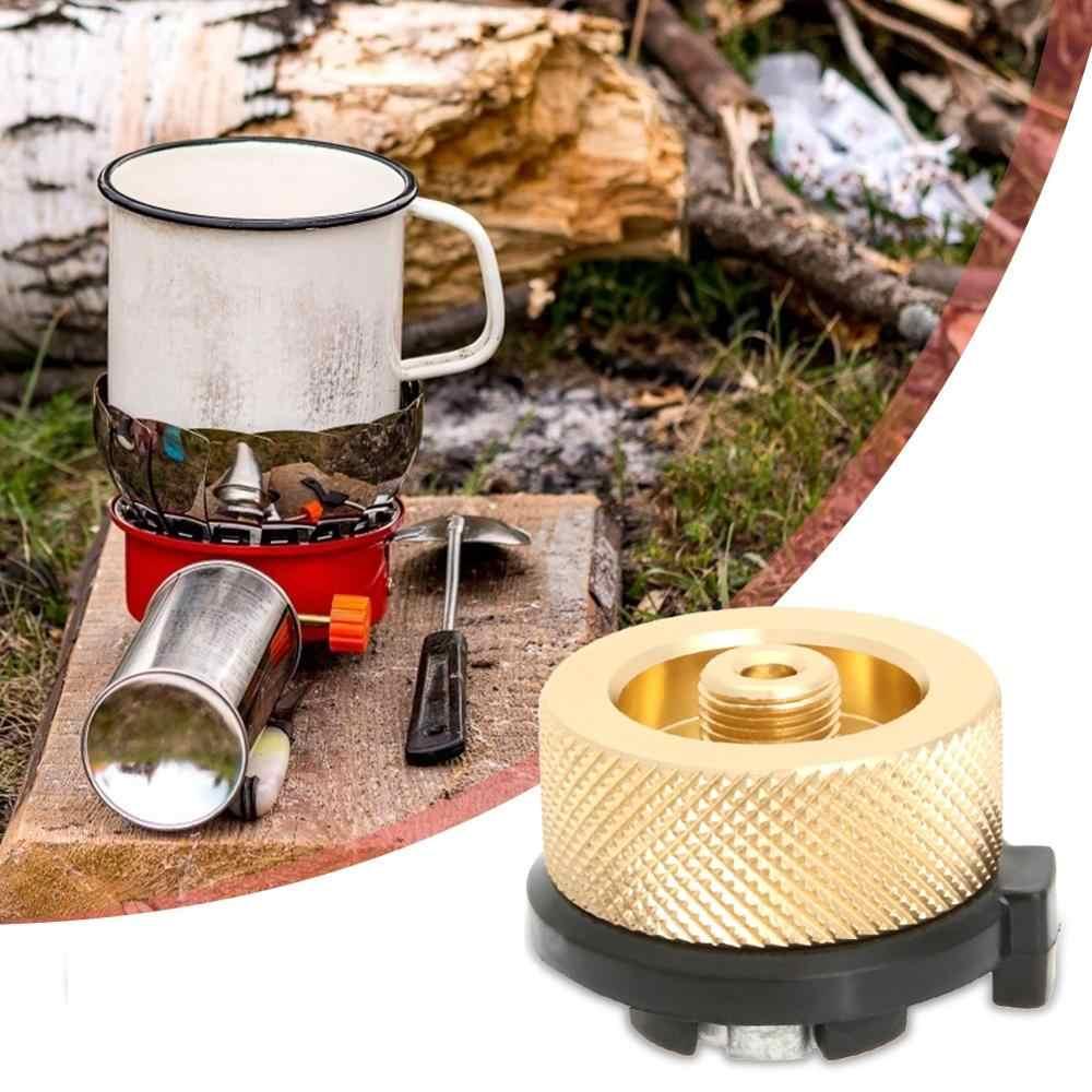 Outdoor Camping เตาอะแดปเตอร์หลอดประเภทแยกประเภท Furnace Converter Connector อลูมิเนียมอัลลอยด์อะแดปเตอร์ Converter