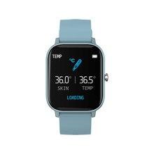 P8T MAFAM inteligentny zegarek mężczyźni kobiety pulsometr 1.4 cal wyświetlacz HD inteligentny bransoletka z temperatury ciała