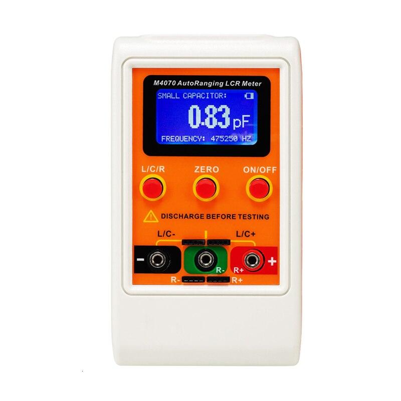 M4070 Автоматический Измеритель LCR до 100H 100mF 20MR, точность 1%, 5-значный оранжевый дисплей, разрешение пФ, мкГн, r