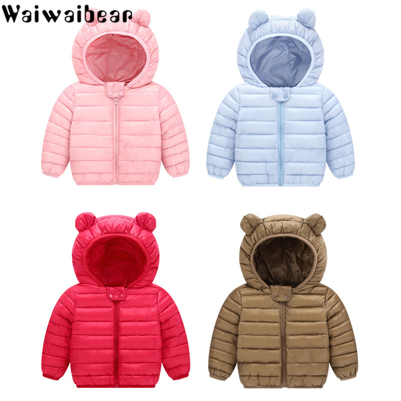 Waiwaibear Baby Jacket Coats Infant Girls Boys Cotton Down New Hooded for And Winter
