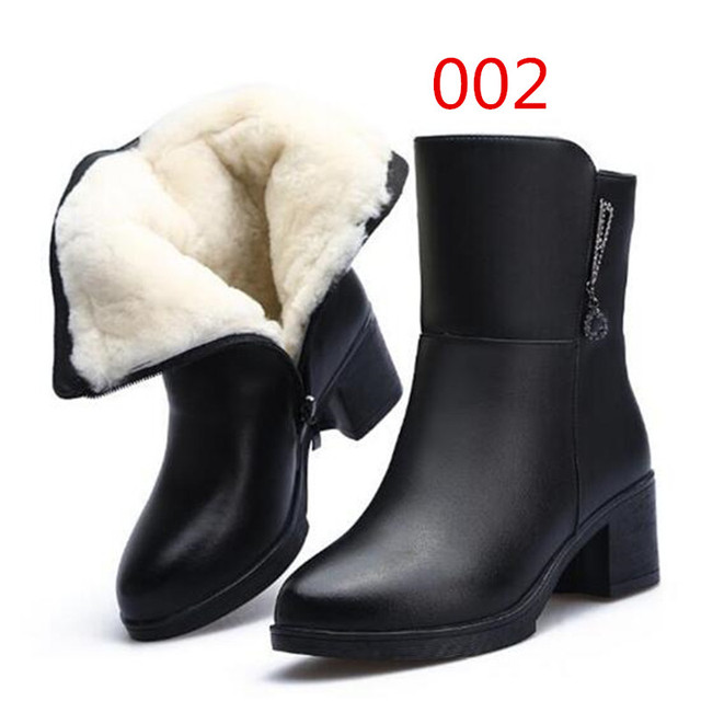 ZXRYXGS Brand boots Women shoes Winter Boots 2019 New Fashion Shoes Warm Wool Winter Snow Boots Real Leather Shoes Woman Boots