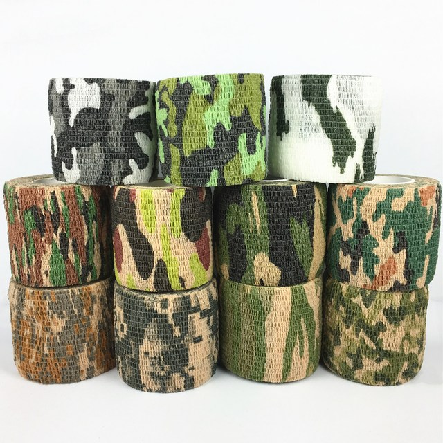 11colors Army Camo Outdoor Hunting Shooting Blind Wrap Camouflage Stealth Tape Waterproof Wrap Durable 5cmx4.5m 1