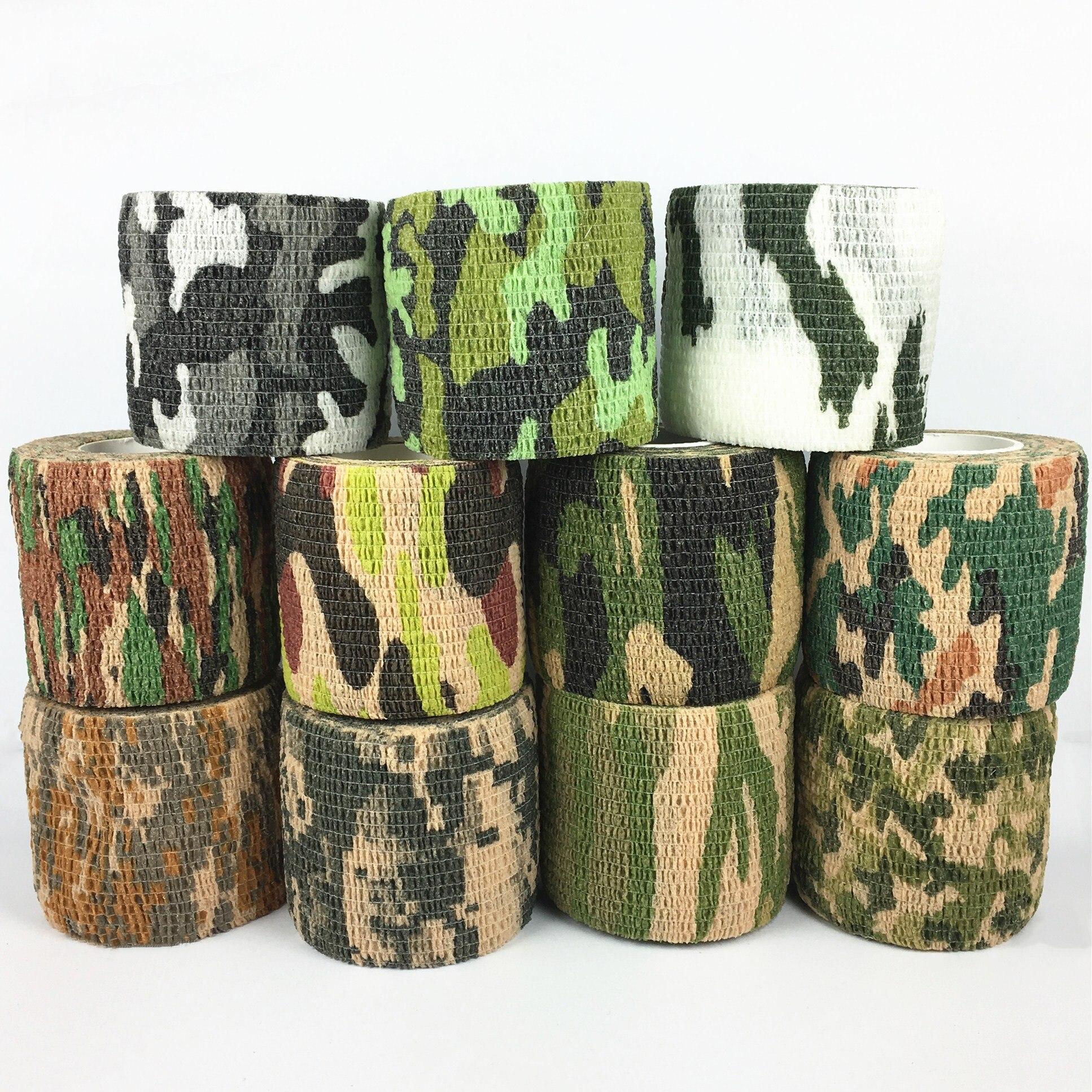 11 Warna Tentara Kamuflase Luar Ruangan Berburu Shooting Buta Bungkus Kamuflase Stealth Tape Tahan Air Wrap Tahan Lama 5 Cm X 4.5 M