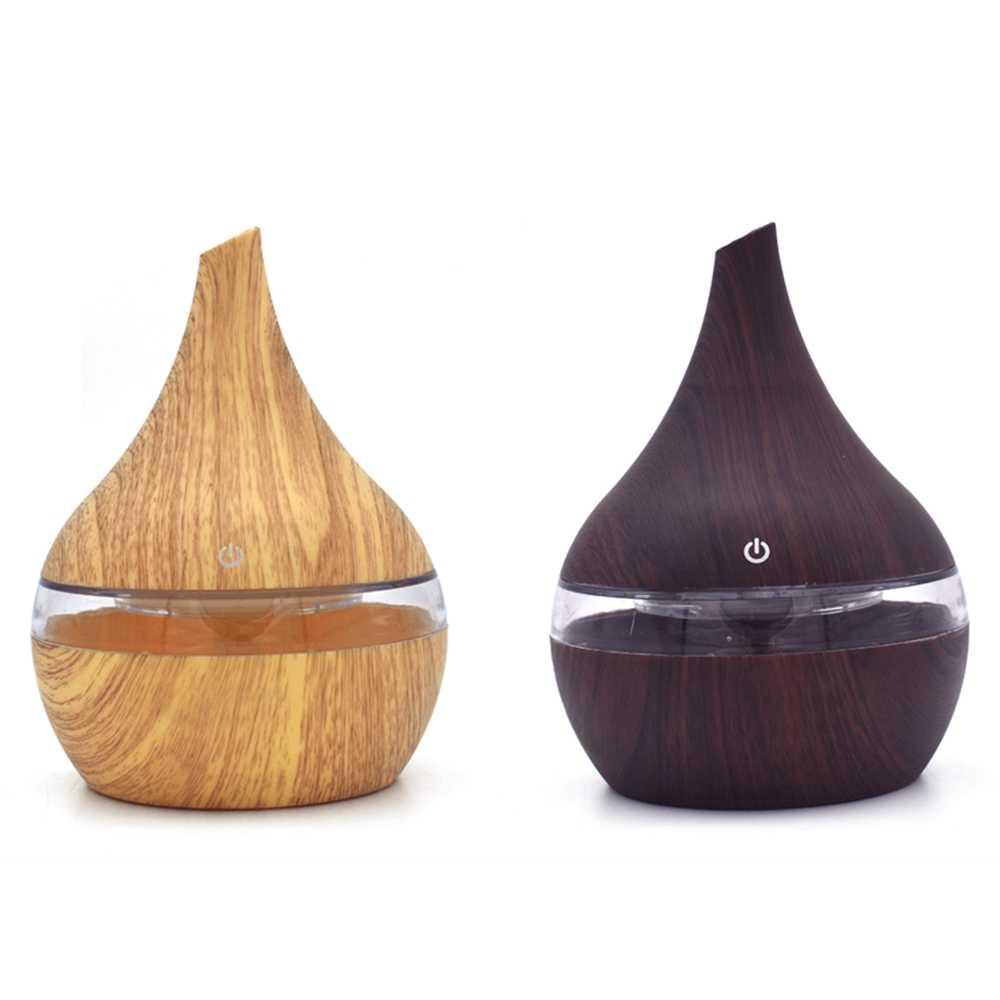 NMT-035 300ml 7 couleur bois USB charge ultrasons huile essentielle arôme diffuseur humidificateur d'air pour la maison