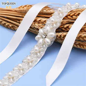 TOPQUEEN H155 Stunning Bridal Tiaras Headbands Elegant Bridal Crown Pearl Bridal Hair Accessories Cheap Wedding Headpieces great gatsby daisy crystals pearl tassels silver wedding bridal pearl tiaras and crowns wedding party hair hoop headbands
