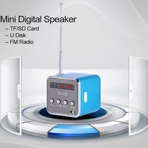 Image 4 - TD V26 مكبر صوت صغير محمول مايكرو SD TF بطاقة قرص USB ستيريو لأجهزة الكمبيوتر المحمول دي في دي