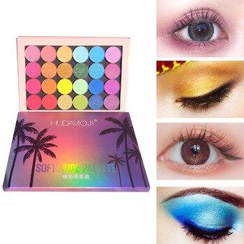 Woman makeup Pearl Matte Eye Shadow Color 24  Makeup Eyeshadow Palette Hawaii Color Eye Shadow Tray Highlight Earth Color TSLM1 недорого
