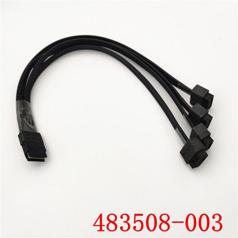 HP 483508-003 SFF-8087 Mini SAS 1 to 4 SATA Female Cable Z620 Z640 Z820 Z840 1ft