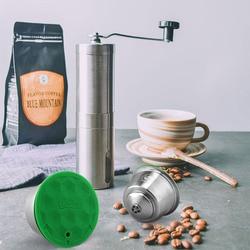 Dapat Digunakan Kembali DOLCE GUSTO Kopi Kapsul Pod Bisa Diisi Ulang Espresso Pembuat Kopi dengan Kopi Manual Grinder