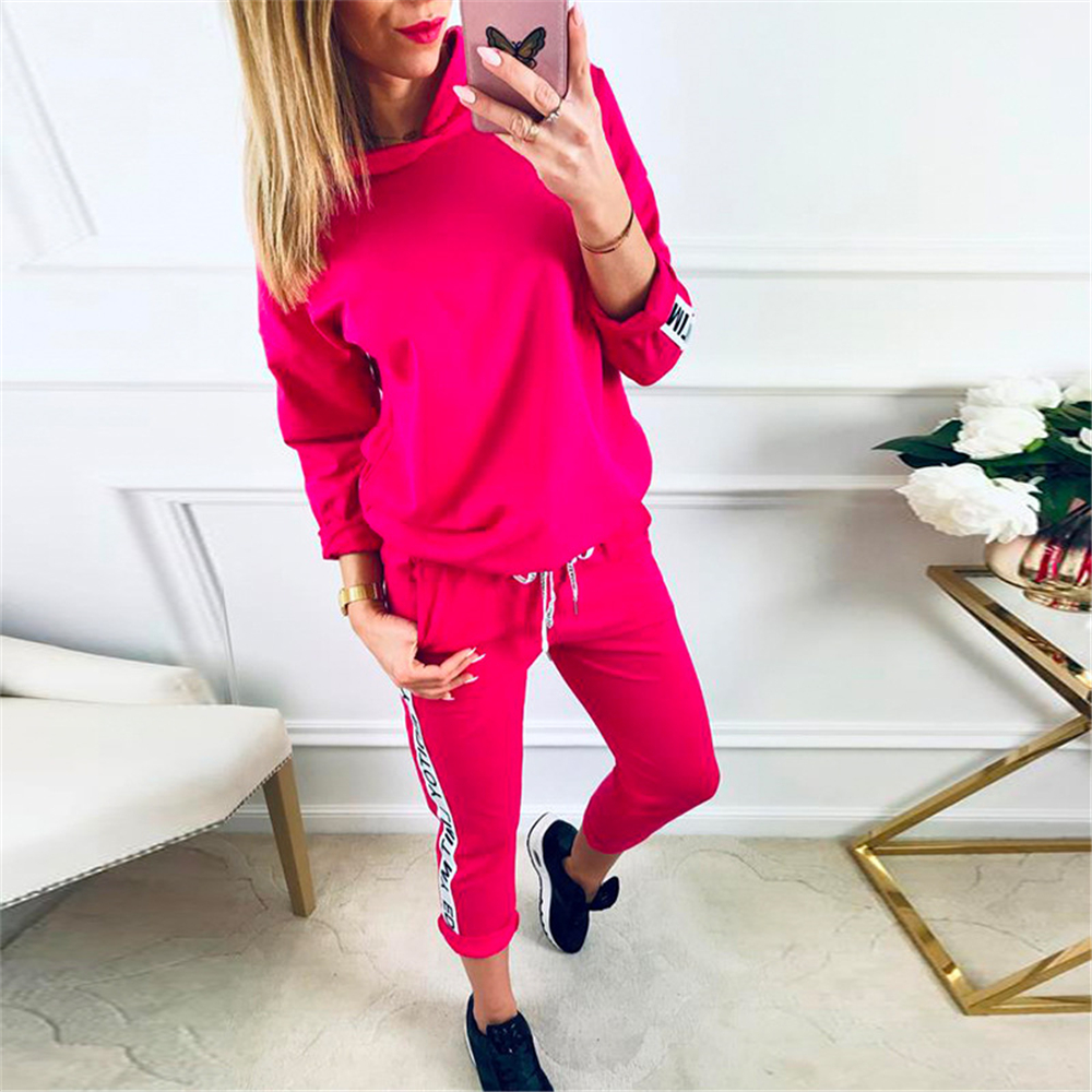 2020 Autumn Tracksuit Long Sleeve Thicken Hooded Sweatshirts 2 Piece Set Casual Sport Suit Women Tracksuit Set Sudaderas Mujer