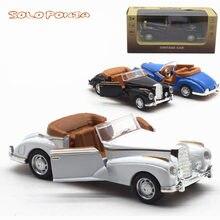 1:36 alta simulação cadillac retro vintage carro, liga puxar para trás modelos de carro, metal diecasts brinquedo veículo, presente do miúdo QX601-4