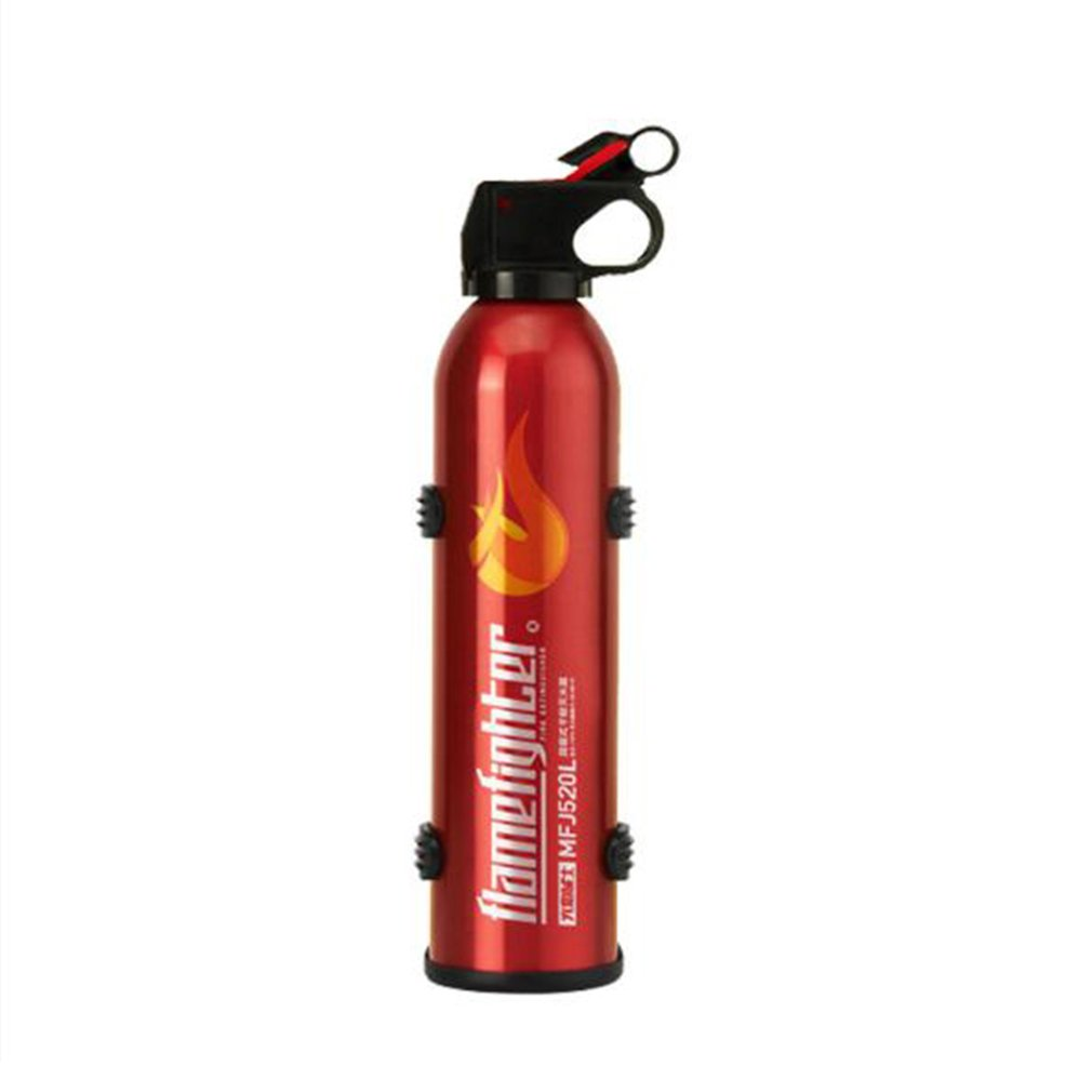 Black Mini Portable Car Fire Extinguisher With Hook Dry Chemical Fire Extinguisher Safety Flame Fighter For Home Office Car