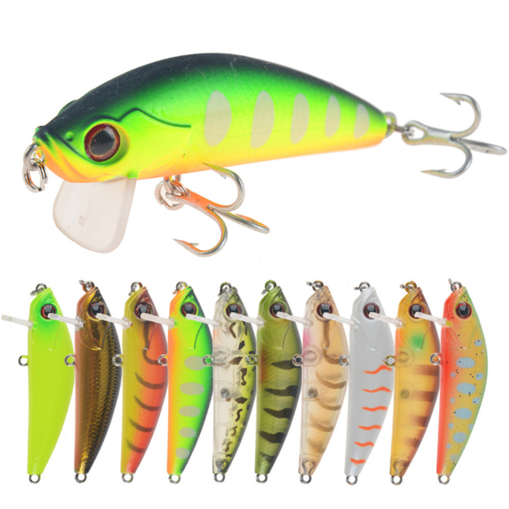 1PC Fishing Lure Crankbait Bait Tackle Hard Plastic Minnow Artificial Fish 10cm