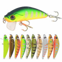 1pcs Minnow Floating Fishing Lure 6.5cm 6.3g Fake Fish Crankbait Wobblers Artificial Plastic Hard Bait Swimbait Fishing Tackle