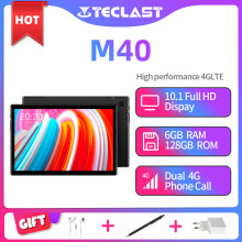 Teclast m40 10.1 tablet tablet tablet unisoc t618 octa núcleo 1920x1200 4g rede 6gb ram 128gb rom android 10 duplo wifi tipo-c comprimidos pc