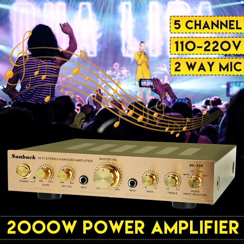 HIFI Stereo Power Amplifier 2000W 110V 220V Channel Equalizer Car Amplifier Home Theater Amplifiers Audio