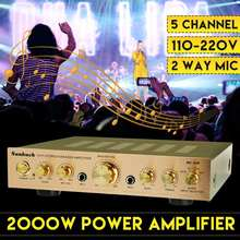HIFI Stereo Power Amplifier 2000W 110V 220V Channel Equalizer Car Amplifier Home Theater Amplifiers Audio s 9000 home high power professional 5 1 bluetooth amplifier hifi theater amplifier