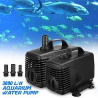 45W Water Pump W/ 3xWater Nozzles Aquarium Fish Tank Pond Submersible Fountain Water Pump Filter Waterproof Safe Pumps Home