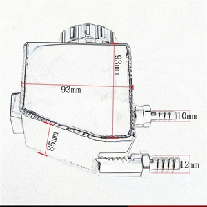 Image 5 - אלומיניום מאגר יכול עבור V6 V8 VT VX VU VY VZ VE LS1 LS2 LS3 LS6 LS7 L98 L76 כוח היגוי טנק להולדן קומודור