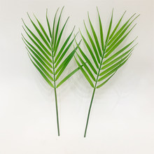 1 Branch/Bouquet Artificial Boston Fern Plastic Artificial Silk Green Plants Fake Leaves Craft Fake Foliage Home Decoration(China)