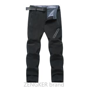 Image 4 - אביב חורף בתוספת גודל מכנסי קזואל זכר עבה עמיד למים מכנסיים sandtroopers גדול גודל רך פגז מכנסיים זכר 9XL 8XL 7XL