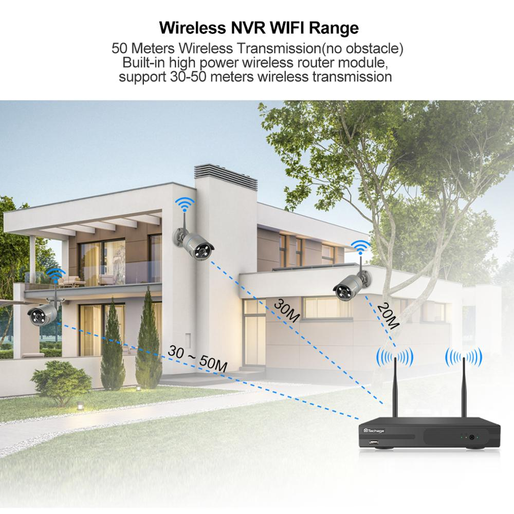 Image 5 - Techage 4CH 1080P Wireless Camera NVR System 2MP Wifi 4 Array LED 2 Way Audio Sound Video Outdoor Security Surveillance CCTV Kit-in Surveillance System from Security & Protection