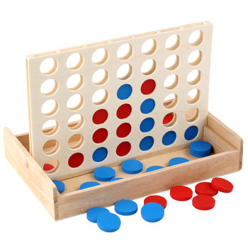 Connect Blue Red Four In 4 In A Line Board Funny Puzzle Family Parties Classic Bingo Games Wood Entertainment Travel Adult Toy classic aftertaste kendama puzzle game toy wood red