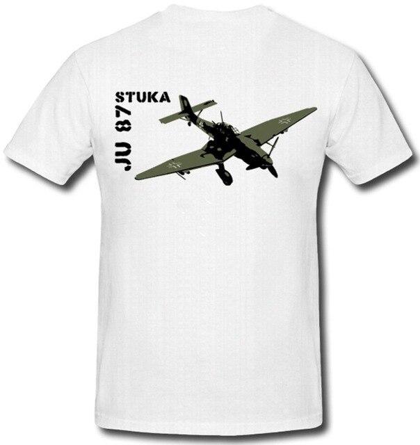 2020 New Short Sleeve Men Stuka Sturzkampfbomber JU 87 Tante Ju T Shirt