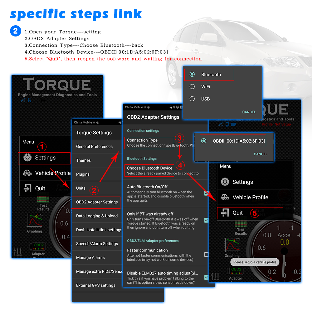 Image 4 - 10 個 ELM327 V1.5 PIC18F25K80 elm 327 v1.5 アンドロイド/PC OBD2  Bluetooth スキャナ OBD 2 OBD2 診断ツール ODB2 コードリーダー -     グループ上の 自動車