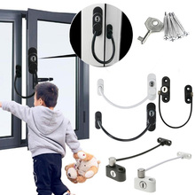 Anti-theft Ventilation Inside And Outside Window Stoppers Multifunctional Window Lock Door Security Guard for Baby Safety 1Pcs new and original guard lock safety door switch d4gl 4afa a