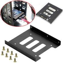 Металлический монтажный адаптер Кронштейн Док-станция полезный 2,5 дюймов SSD HDD до 3,5 дюймов 8 винтов держатель для жесткого диска для ПК корпус жесткого диска