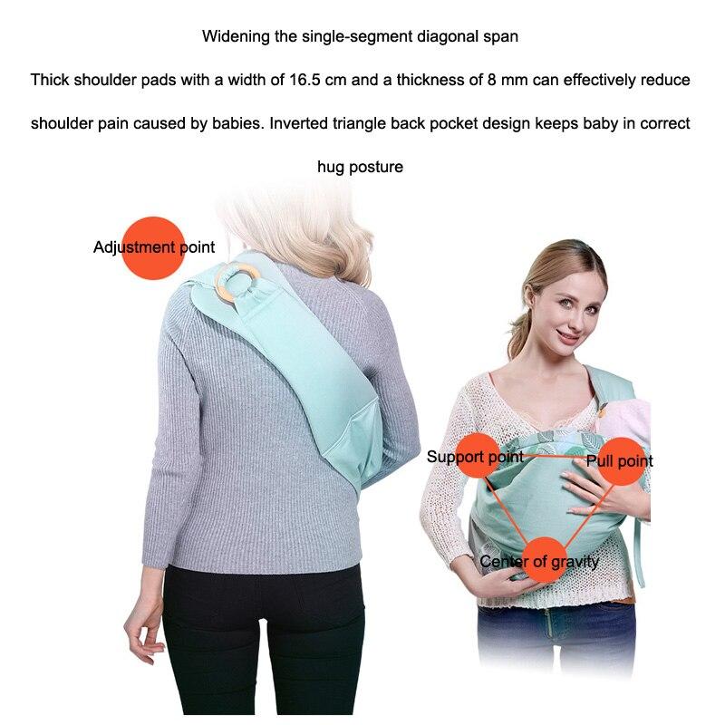 Seckindogan portador de bebê estilingue algodão macio