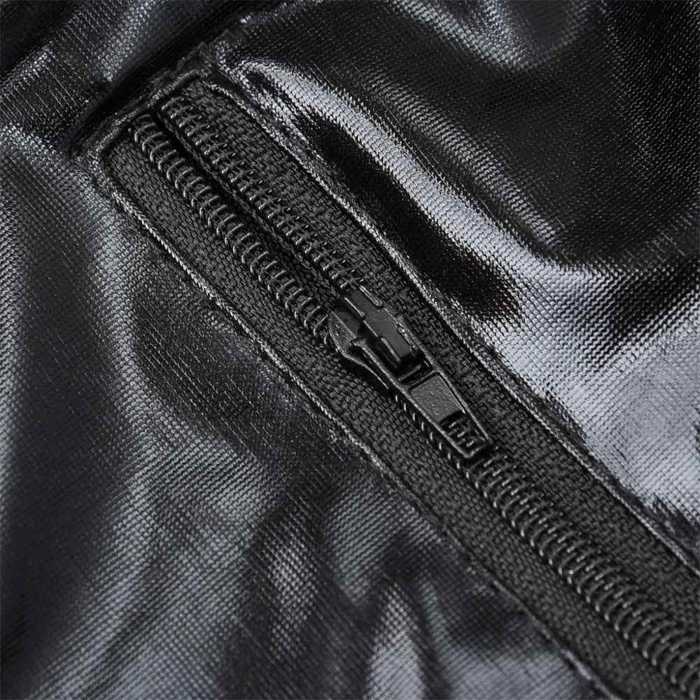 หนังเซ็กซี่บอดี้สูทผู้หญิง PLUS ขนาดแฟชั่นสีทึบตาข่ายสีดำ Backless Jumpsuit ชุดแต่งกาย Cuero Mujer 2019 ใหม่ขายร้อน E