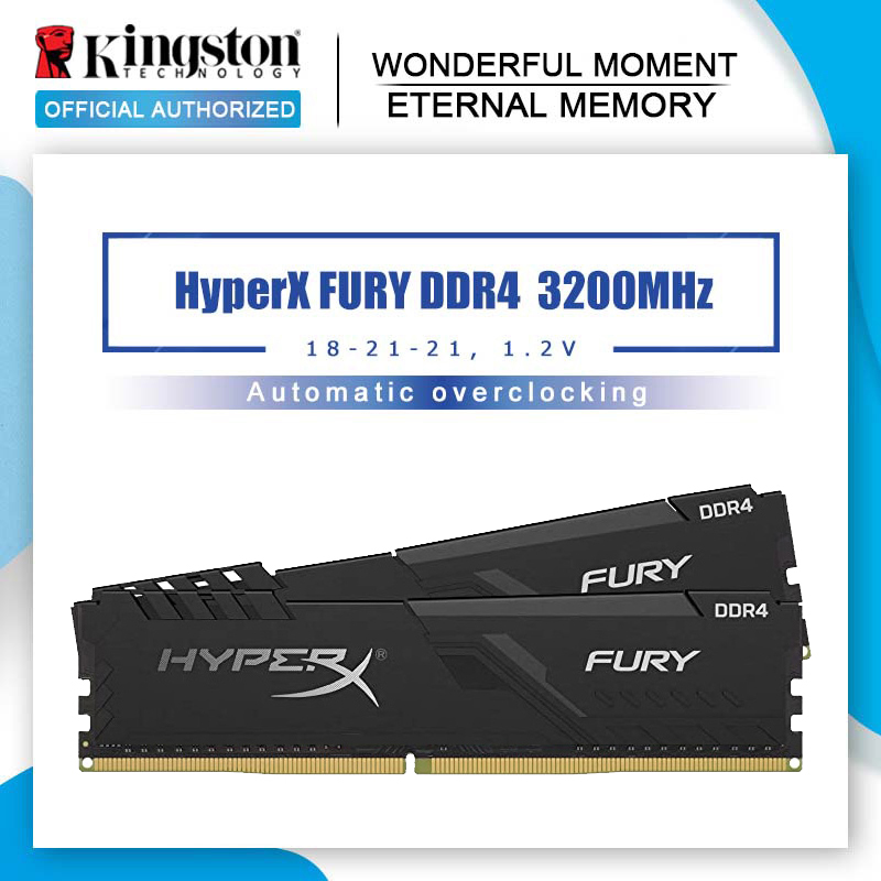 Модуль памяти Kingston HyperX Fury ram ddr4 8g 16g 32g 2666MHz 3200mMHz 3600MHz memoria ram для рабочего стола