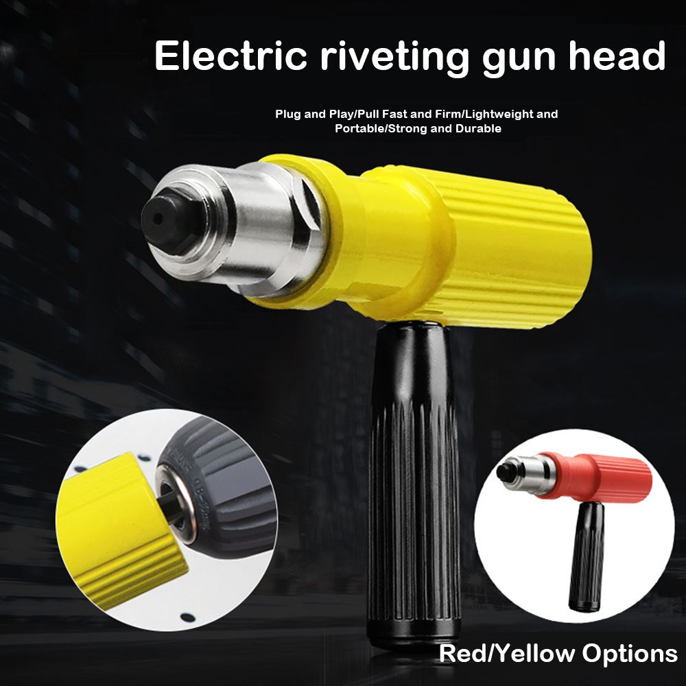Electric Rivet Nut Gun Pop Riveting Drill Tool Cordless Adaptor Nozzle Riveted Pneumatic Blind Rivet Adapter