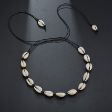 2019 Fashion Summer Sea Shell Necklace for Women  Bohemian Gold Rope Chain Long Boho Trendy Jewelry Gifts
