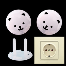 Baby Safety Electric-Protection-Socket Plastic Child Rotate-Cover 10pc/Lot EU 2-Holes